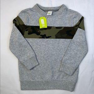 CRAZY 8 - Boys Log Sleeve Shirt w/Camo NWT